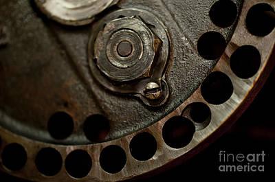 Indian Racer Crankshaft Fly Wheel Poster by Wilma  Birdwell