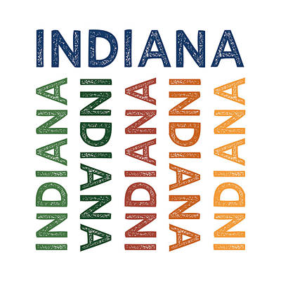Indiana Cute Colorful Poster by Flo Karp