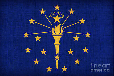 Indiana State Flag Poster by Pixel Chimp