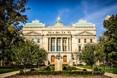 Indiana Statehouse State Capital Building Picture Poster by Paul Velgos
