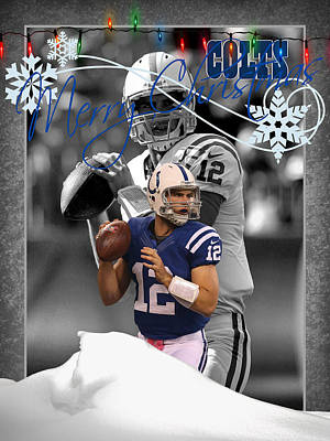 Indianapolis Colts Christmas Card Poster by Joe Hamilton