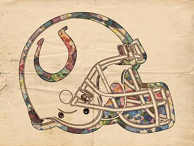 Indianapolis Colts Poster Vintage Poster by Florian Rodarte