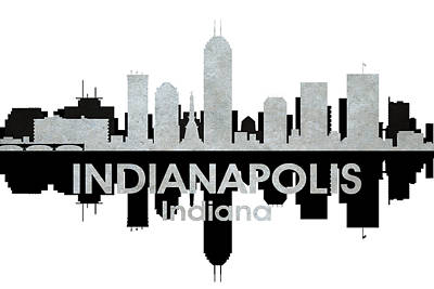 Indianapolis In 4 Poster by Angelina Vick