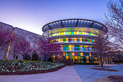Indianapolis Museum Of Art Blue Hour Lights Poster by David Haskett