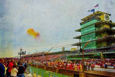 Indy 500 May 2013 Race Day Start Balloons Poster by David Haskett