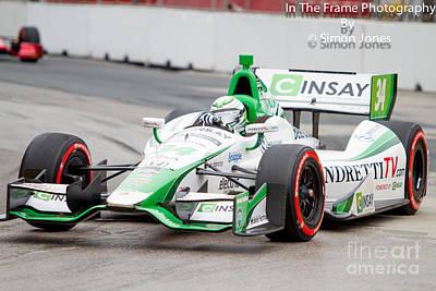 Indy Car  Poster by Simon Jones