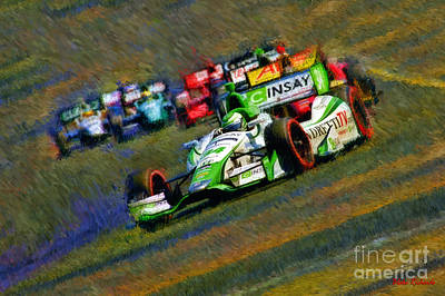Indy Car's Carlos Munoz  Poster by Blake Richards