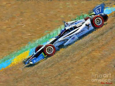 Indy Car's Josef Newgarden Poster by Blake Richards