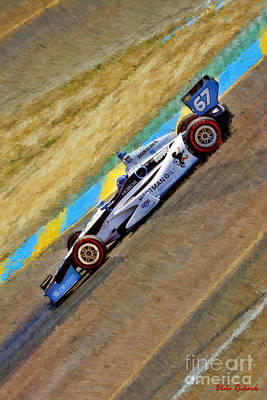 Indy Car's Josef Newgarden Down Hill Poster by Blake Richards