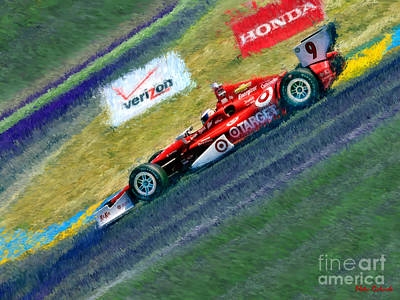 Indy Car's Scott Dixon Poster by Blake Richards
