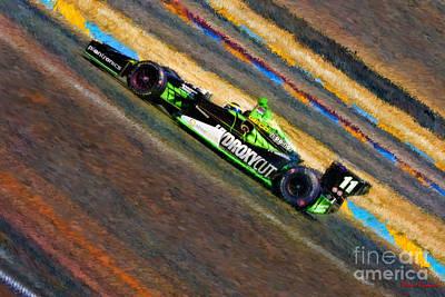 Indy Car's Sebastien Bourdais Poster by Blake Richards