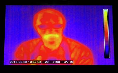 Infrared Man Poster by Mark Williamson