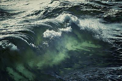 Inner Glow Of Ocean Waves Poster by Anne Macdonald