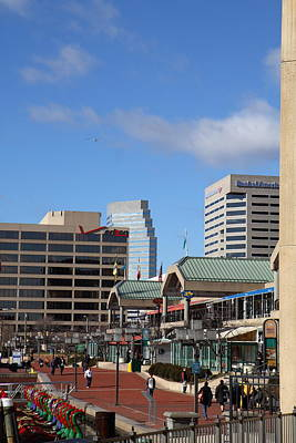 Inner Harbor At Baltimore Md - 121212 Poster by DC Photographer