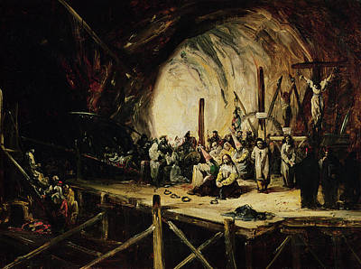 Inquisition Scene, 1851 Oil On Canvas Poster by Eugenio Lucas y Padilla