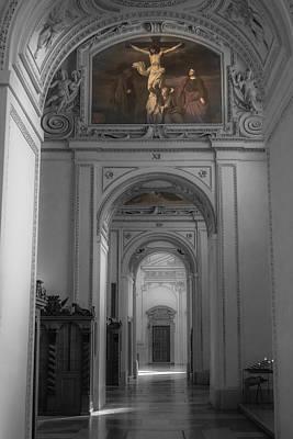 Inside Salzburg Cathedral Poster by Chris Fletcher