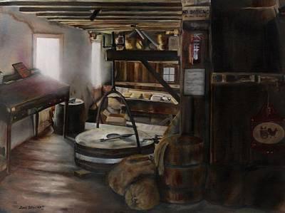 Inside The Flour Mill Poster by Lori Brackett