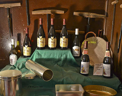 Inside The Wine Cellar Poster by Allen Sheffield