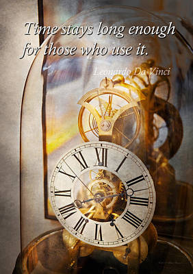 Inspirational - Time - A Look Back In Time - Da Vinci Poster by Mike Savad