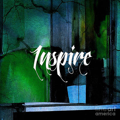 Inspire Wall Art Poster by Marvin Blaine