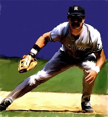 Intensity  Don Mattingly Poster by Iconic Images Art Gallery David Pucciarelli