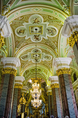Interior Of Cathedral Of Saints Peter And Paul - St. Petersburg  Russia Poster by Jon Berghoff