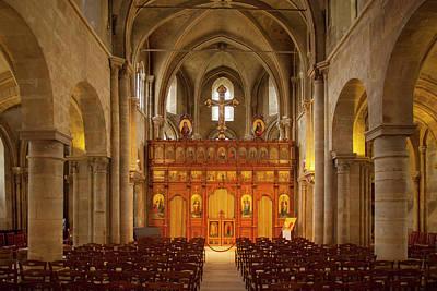 Interior Of Eglise Saint Julien Le Poster by Brian Jannsen