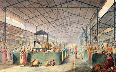 Interior Of Les Halles Poster by Max Berthelin