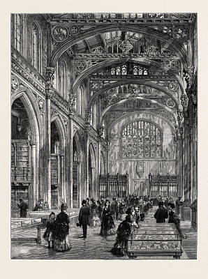 Interior Of The New City Library, Guildhall Poster by English School