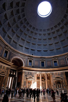 Interior Of The Pantheon In Rome Poster by Brian Jannsen