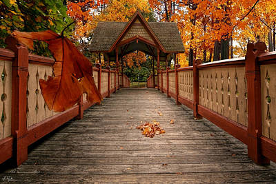 Into The Autumn Poster by Lourry Legarde
