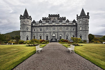 Inveraray Castle Argyll Poster by Marcia Colelli