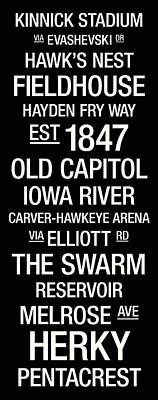 Iowa College Town Wall Art Poster by Replay Photos