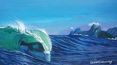 Ipanema Beach Poster by Chikako Hashimoto Lichnowsky