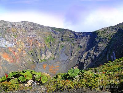 Irazu Volcano Crater - Costa Rica Poster by Al Bourassa