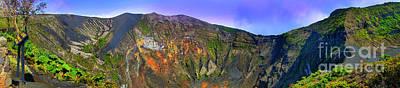 Irazu Volcano Crater Panorama Poster by Al Bourassa