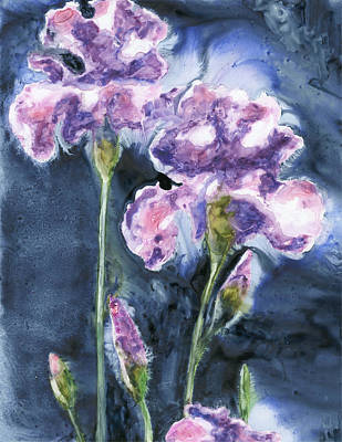 Irises Poster by Marsha Elliott