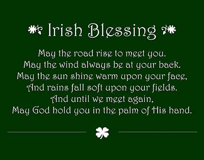 Irish Blessing Poster by Jaime Friedman
