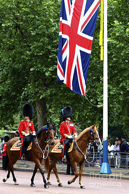 Irish Guards At Trooping The Colour Poster by James Brunker