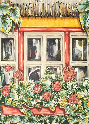 Irish Window Poster by Robin Hicks