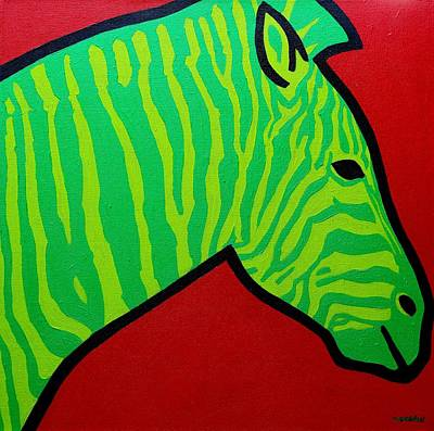 Irish Zebra Poster by John  Nolan