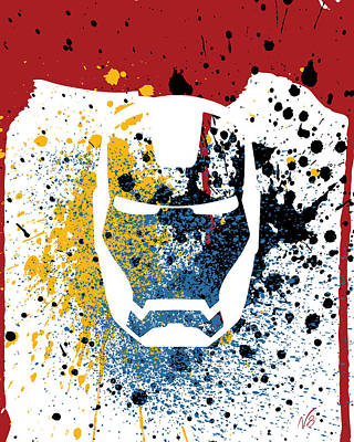 Ironman Goes Splat Poster by Decorative Arts