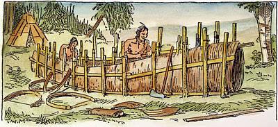 Iroquois Birchbark Canoe Poster by Granger