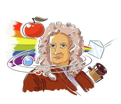 Isaac Newton Poster by Harald Ritsch