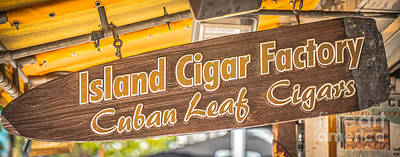 Island Cigar Factory Key West - Panoramic - Hdr Style Poster by Ian Monk