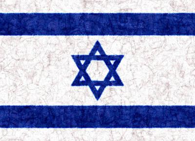 Israel Star Of David Flag Batik Poster by Kurt Van Wagner