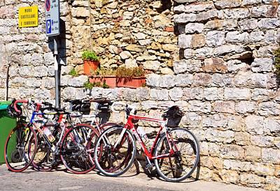 Italian Bikes Poster by Ramona Matei