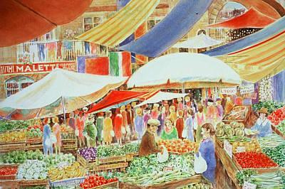 Italian Market Poster by Lee Ferrara