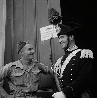 Italian National Police In Full Dress Poster by Stocktrek Images