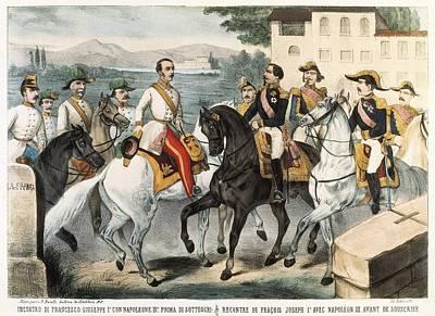 Italian Unification 1859. Meeteng Poster by Everett